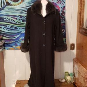 marvin richards lambswool coat size 12